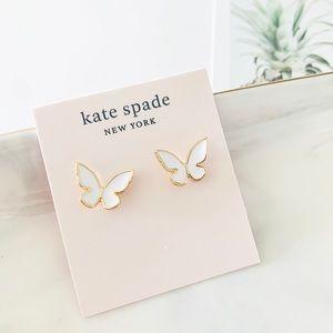 🍁🍁Kate Spade Flutter BUTTERFLY Earrings White